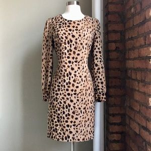 Merona Animal Print Shift Dress Sz XL
